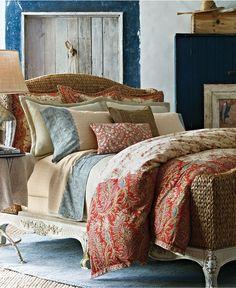 CLOSEOUT! Lauren Ralph Lauren Home Mirabeau Paisley Bedding Collection - Lauren Ralph Lauren - Bed & Bath - Macy's