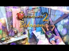 by request: With Disney Descendants 2 coming out TODAY we've got the PERFECT craft! Check out this Fabulous Isle of the Lost Dollhouse Bedroom! Disney Descendants 2, Savannah Craft, My Froggy Stuff Videos, Diy Dolls Tutorial, Ag Doll Crafts, Myfroggystuff, Barbie Bedroom, Isle Of The Lost, Dioramas