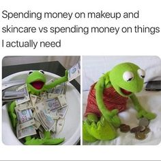 Top 20 Hilarious Funny Makeup Memes - Quotes and Humor Funny Makeup Memes, Funny Kermit Memes, Really Funny Memes, Stupid Funny Memes, Funny Relatable Memes, Funny Stuff, Funny Things, Funny Quotes, Funny Shit