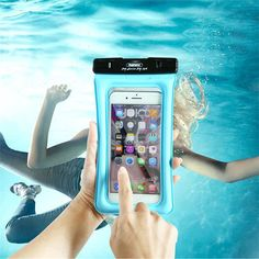 REMAX RT-W2 Plus Auto-untie Buckle Waterproof Touch Screen Airbag Phone Bag for Phone Under 6-inch
