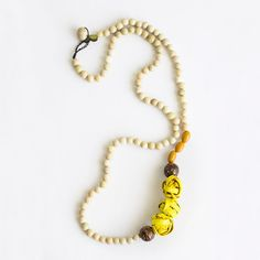 Aros Long Necklace . Yellow Multi-color