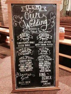 Wedding Program Handmade Rustic Frame with easel $130
