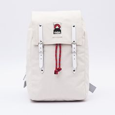 The white MATRA MINI backpack with white leather straps is new for 2015, and offers our simplest and cleanest look yet!