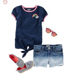 Love this shirt! And the shorts if they could be soft and stretchy. (Aug) get puppy Outfits Niños, Teen Girl Outfits, Little Girl Outfits, Little Girl Fashion, Toddler Fashion, Toddler Outfits, Kids Fashion, Little Girl Shoes, Toddler Girl Shoes
