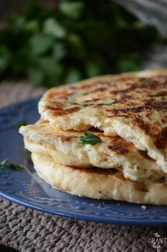 Homemade naan recipe!  Easy tutorial on how to make this delicious flatbread