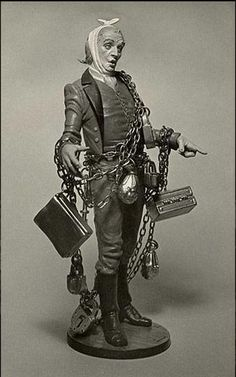 Jacob Marley - The Christmas Carol figurine collection Marley Christmas Carol, Christmas Carol Charles Dickens, Christmas Past, Christmas Pictures, Christmas Holidays, Vintage Winter, Vintage Christmas, Dracula, Jacob Marley