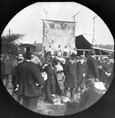 Meeting of London City Mission at Barnet Fair Barnet London early 20th century John Galt's wife and children are in the centre Galt came to London in...