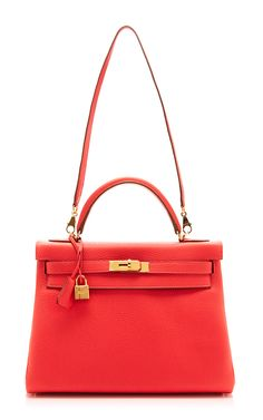 Hermes 32Cm Rose Jaipur Clemence Retourne Kelly by Heritage Auctions Special Collection for Preorder on Moda Operandi