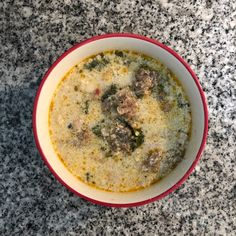 This yummy soup replaces potatoes in the traditional recipe with cauliflower, making it lower carb and appropriate for keto or Atkins diets. Sausage And Kale Soup, Atkins Diet, Cauliflower Recipes, Yummy Eats, Cheeseburger Chowder, Diets, Low Carb, Potatoes, Nutrition