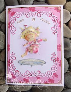 Cardmaking Online: Daisy by Marianne Design ~ Shaz. Marianne Design, Cardmaking, Daisy, Paper Crafts, 3d, Frame, Cards, How To Make, Blog