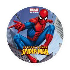 Make into a Christmas Ornament (OB) Spiderman Theme, Superhero Cake, Spiderman Classic, Superhero Coloring, Edible Printing, Man Birthday, Circle Cake, Christmas Ornament, Ornaments