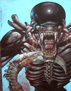 Alien by Simon Bisley Simon Bisley, Comic Book Artists, Comic Artist, Comic Books Art, Alien Vs Predator, Xenomorph, Marvel Comics, Science Fiction, Giger Alien