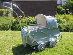 Antieke/Retro Kinderwagen met verlengde duwstang!