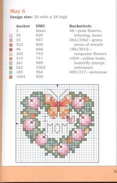 Wreaths of the Year Cross Stitch May