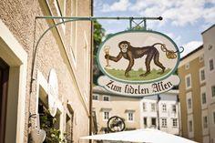 Restaurant Fideler Affe in der Linzergasse, Salzburg