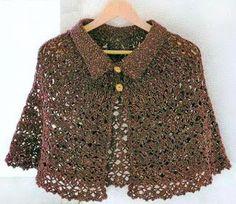 Crochet Shawls: Crochet Cape Pattern Free For Women - Classic Cape and Cloche…
