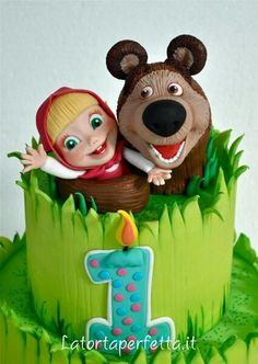 Masha and the bear Happy Birthday, Birthday Parties, Birthday Cake, Birthday Ideas, Masha Cake, Masha Et Mishka, Masha And The Bear, Some Ideas, Fancy Cakes