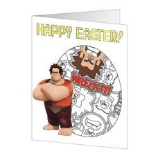 Make someone's day with these #WreckItRalph Printable Easter Cards!