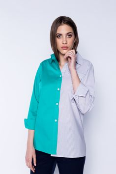 Collections, Tops, Women, Fashion, Green, Moda, Fashion Styles, Shell Tops, Fashion Illustrations