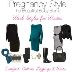 """""""Maternity Work Styles for Winter"""" by sweetonstyle on Polyvore"""