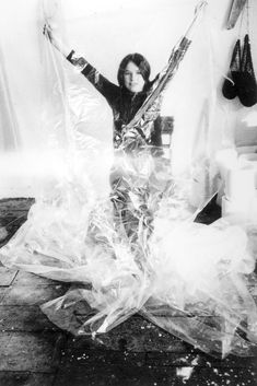 Eva Hesse (January 11, 1936 – May 29, 1970), was a Jewish German-born American sculptor, known for her pioneering work in materials such as latex, fiberglass, and plastics.