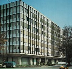 Office building at St. Jakobs-Strasse St. Alban, Basel, Switzerland; 1960's