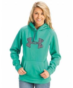 Under Armour Women's Light Green Camo Tackle Twill Hoodie