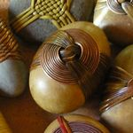 Deloss Webber (delrocks.com) Stone Crafts, Rock Crafts, Arts And Crafts, Zen Rock, Rock Art, Rock Sculpture, Stone Wrapping, Rock Design, Stone Art
