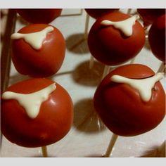 Longhorn cakepops