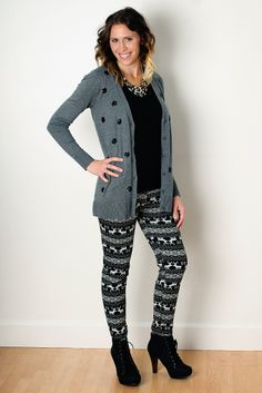 These Black Moose leggings will keep you warm with these freezing temps! Only $13.99 at amodernboutique.com #leggings #winter