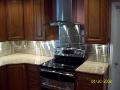 """Brushed Stainless Steel Tiles, Sizes: 6"""" x 6"""", 1"""" x 6"""", 1"""" x 1"""""""