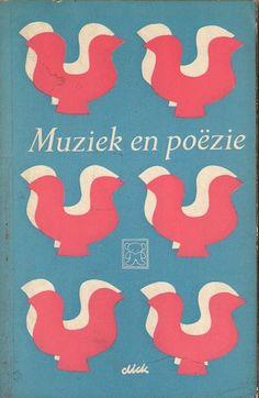 Dick Bruna coverdesign    Johan de Molenaar  Music and Poetry Muziek en poëzie    A.W Bruna & Zoon. Utrecht, 1959  Zwarte Beertjes  Black Bears 159