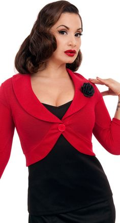Steady Clothing Rose Marilyn Sweater in Red | Blame Betty. Bridesmaids?