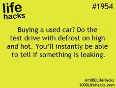 Used car buying hack