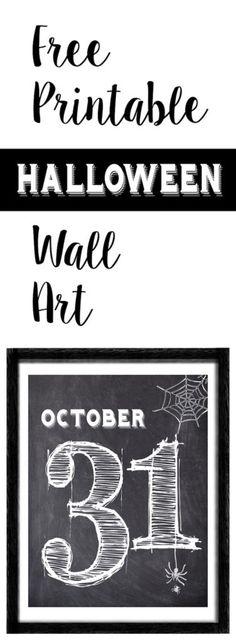 Free Halloween Printables Pinterest Free halloween printables - print halloween decorations