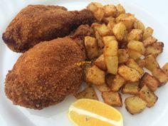 Novih 6 recepata za početak ugodnog vikenda (1) RESTANI KRUMPIR I POHANI PILEĆI BATACI (ZA 4 OSOBE) Sastojci: 1 kg krumpira – 1 veći luk – 100 g mesnate slanine – pola male žl.