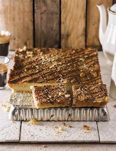 My ouma se melktert, My ouma se yskasmelktert was altyd die hoogtepunt van ons kuiers. Hierdie is 'n ode aan Ouma Bettie en die wonderlike vakansies op die plaas – ek dink sy sal hou van my sjokolade-kinkel daarby Custard Recipes, Tart Recipes, My Recipes, Sweet Recipes, Baking Recipes, Favorite Recipes, Pie Dessert, Dessert Recipes, Desserts