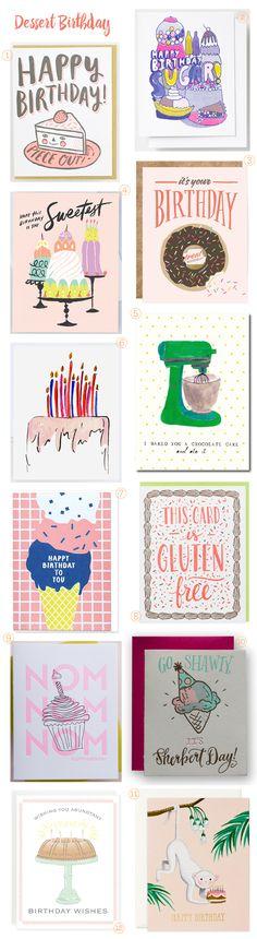 Dessert Birthday Cards!