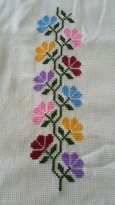This Pin was discovered by Ays Cross Stitch Boarders, Cross Stitch Love, Cross Stitch Bookmarks, Cross Stitch Flowers, Cross Stitch Designs, Cross Stitching, Cross Stitch Embroidery, Cross Stitch Patterns, Hand Embroidery Designs