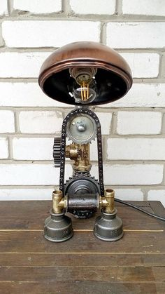 Vintage Light Steampunk Lamp Table Lamp Edison Light