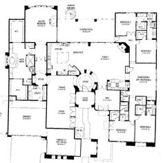 versailles house plan 4525 9 bedrooms and 8 5 baths one story house and home plans single story small house