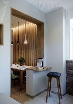 suplini Web Design, Design Case, Flat Design, House Design, Apartment Balcony Decorating, Apartment Balconies, Kitchen Dinning Room, Layout, Kitchen Design
