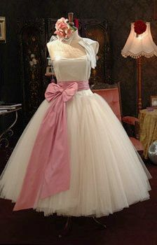 1950's style wedding dresses.  Lewis and I need to renew our vows just so I can wear this!
