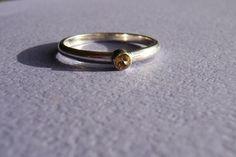 Sterling Silver 3mm Citrine Ring £37.00