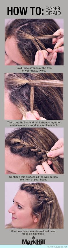 You got bangs, that's ok. But what happens when you want to hide your bangs? You do it with a braid!