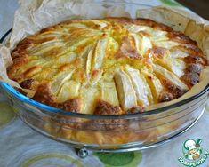 Итальянский деревенский яблочный пирог (молоко заменила на сыворотку, разрыхлитель на 0,5 ч.л. соды, сахар 170 гр. сверху на пирог три ложки коричневого сахара, корица)