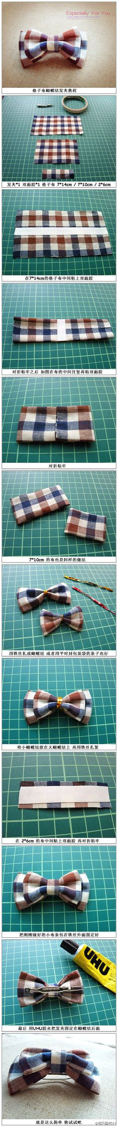 Cute, I could turn this into a clip-on bow tie for my nephew