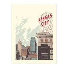 """Kansas City Crossroads"" Screen Printed Poster"