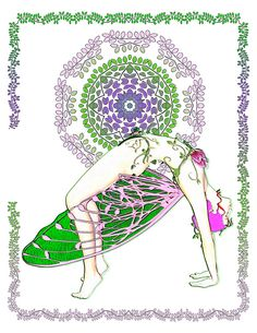 . Both the act of coloring and doing yoga are meditations that focus on the moment, bringing a calming mindfulness to the participant, helping to relax and reduce anxiety.