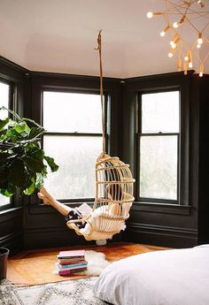 14 Decor Ideas To Instantly Upgrade Your Windows: Hanging Chair